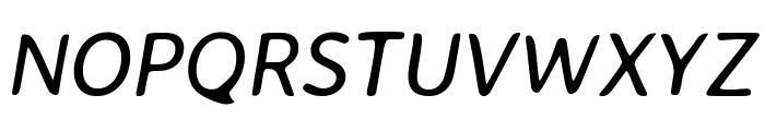 Averia Sans Libre italic Font UPPERCASE