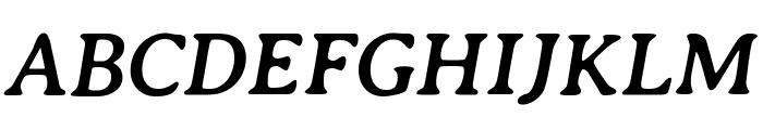 Averia Serif Libre 700italic Font UPPERCASE