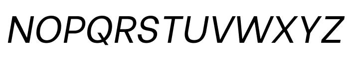 Be Vietnam italic Font UPPERCASE