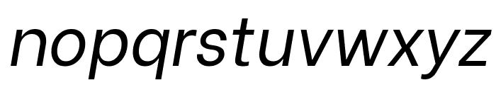 Be Vietnam italic Font LOWERCASE