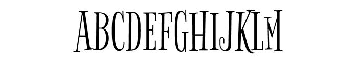 Bigelow Rules regular Font UPPERCASE