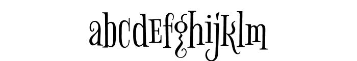 Bigelow Rules regular Font LOWERCASE