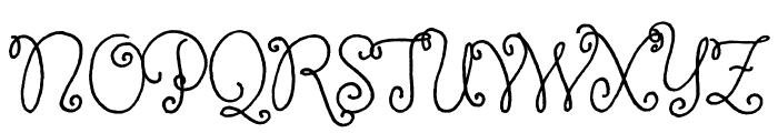 Butterfly Kids regular Font UPPERCASE