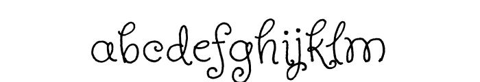 Butterfly Kids regular Font LOWERCASE