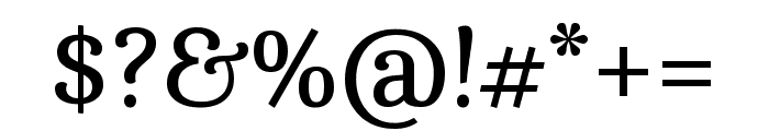 Cambo regular Font OTHER CHARS
