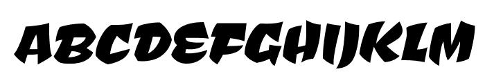 Ceviche One regular Font UPPERCASE