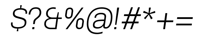 Chivo 300italic Font OTHER CHARS