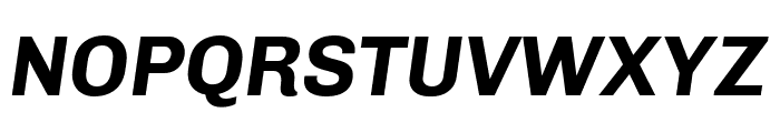 Chivo 700italic Font UPPERCASE