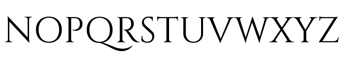 Cinzel regular Font UPPERCASE