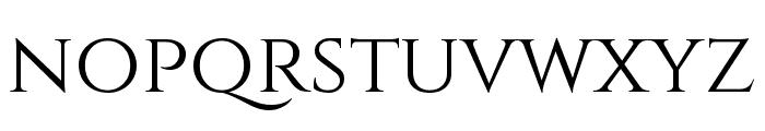 Cinzel regular Font LOWERCASE