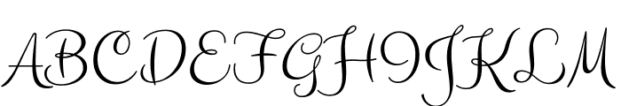Clicker Script regular Font UPPERCASE