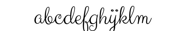 Clicker Script regular Font LOWERCASE