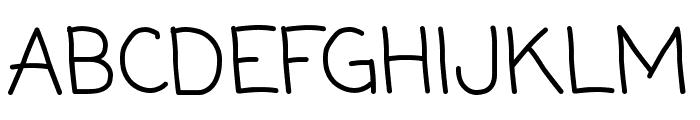 Coming Soon regular Font UPPERCASE