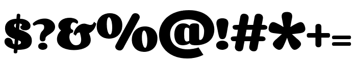 Corben 700 Font OTHER CHARS