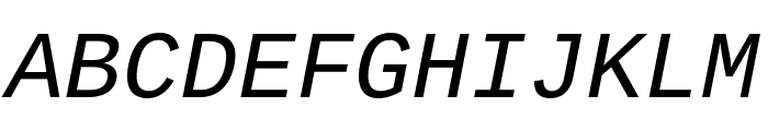 Cousine italic Font UPPERCASE
