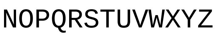 Cousine regular Font UPPERCASE