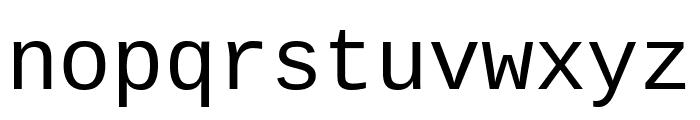 Cousine regular Font LOWERCASE