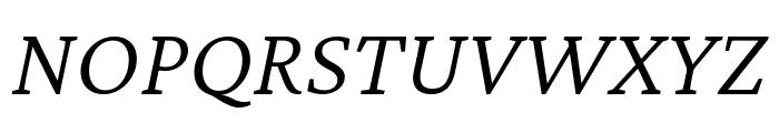 Crimson Pro 300italic Font UPPERCASE