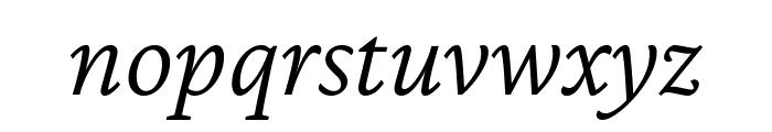 Crimson Pro 300italic Font LOWERCASE