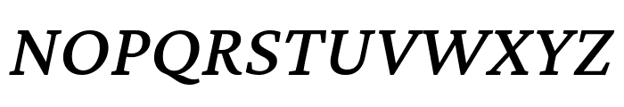 Crimson Pro 500italic Font UPPERCASE
