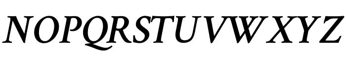 Crimson Text 600italic Font UPPERCASE