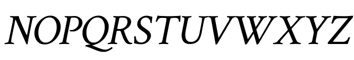 Crimson Text italic Font UPPERCASE