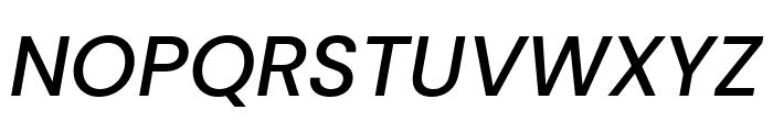 DM Sans 500italic Font UPPERCASE