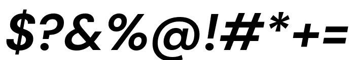 DM Sans 700italic Font OTHER CHARS