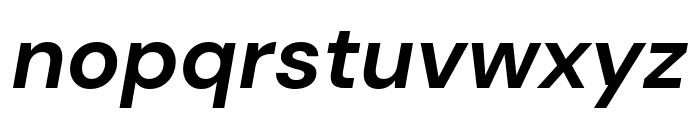 DM Sans 700italic Font LOWERCASE