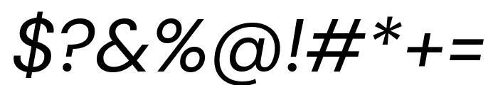 DM Sans italic Font OTHER CHARS