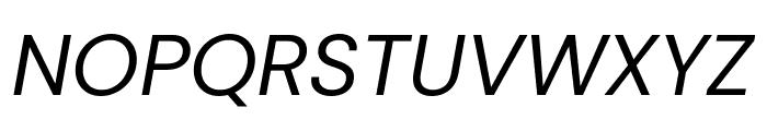 DM Sans italic Font UPPERCASE