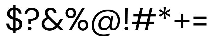 DM Sans regular Font OTHER CHARS