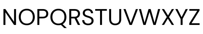 DM Sans regular Font UPPERCASE