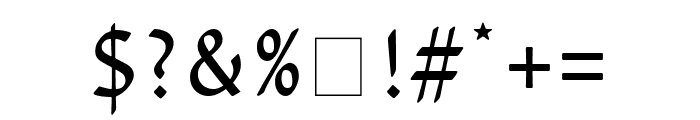 David Libre regular Font OTHER CHARS
