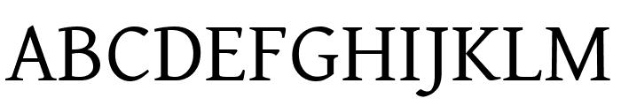 David Libre regular Font UPPERCASE