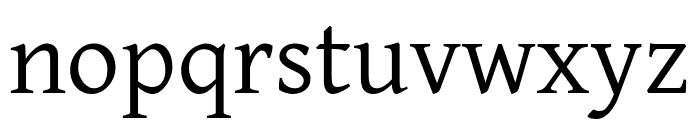 David Libre regular Font LOWERCASE