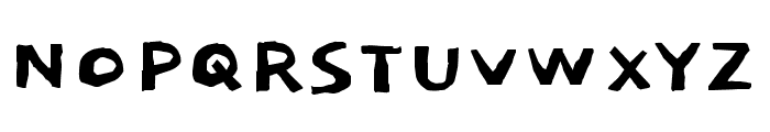 Dokdo regular Font UPPERCASE