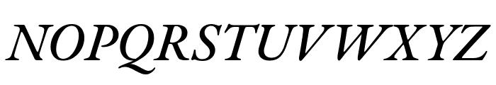 EB Garamond 500italic Font UPPERCASE