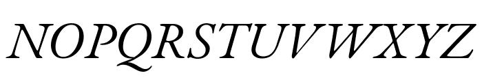 EB Garamond italic Font UPPERCASE
