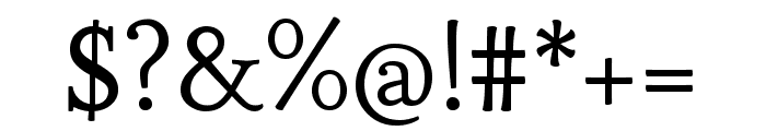 Esteban regular Font OTHER CHARS