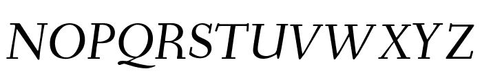 Fanwood Text italic Font UPPERCASE