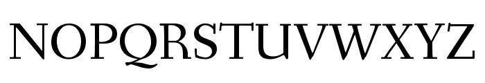 Fanwood Text regular Font UPPERCASE