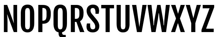 Fjalla One regular Font UPPERCASE
