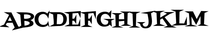 Fontdiner Swanky regular Font UPPERCASE