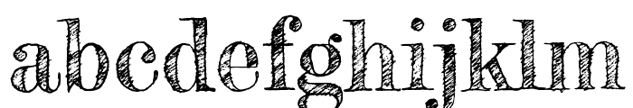Fredericka the Great regular Font LOWERCASE
