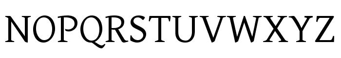 Gentium Basic regular Font UPPERCASE