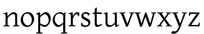 Gentium Basic regular Font LOWERCASE