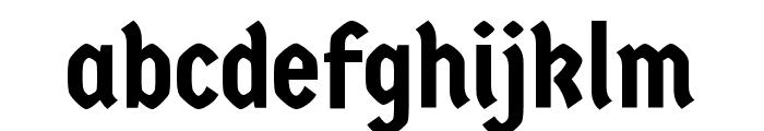 Germania One regular Font LOWERCASE