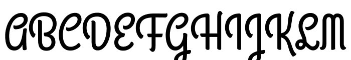 Grand Hotel regular Font UPPERCASE