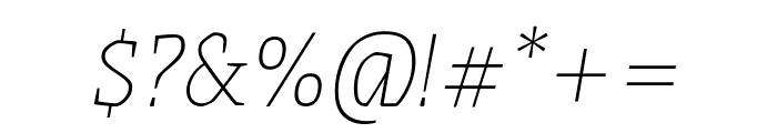 Grenze 100italic Font OTHER CHARS